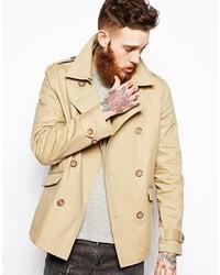 Asos Brand Trench Coat In Shorter Length