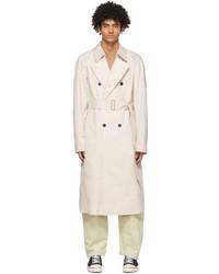 OVERCOAT Beige Crispy Cotton Trench Coat