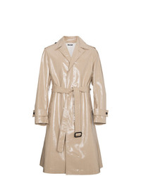 Calvin Klein 205W39nyc Beige High Shine Trench Coat