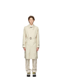 Stella McCartney Beige Organic Cotton Luke Trench Coat