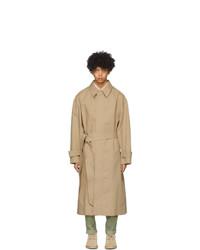 AMI Alexandre Mattiussi Beige Oversized Mac Coat