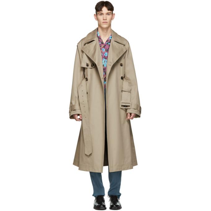 Valentino Beige Oversized Trench Coat, Oversized Trench Coat Mens