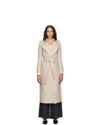 Harris Wharf London Beige Pressed Virgin Wool Trench Coat