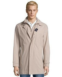 Fay Beige Water Resistant Cotton Single Breasted Trench Coat