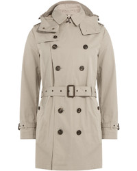 Burberry Brit Cotton Trench Jacket With Hood