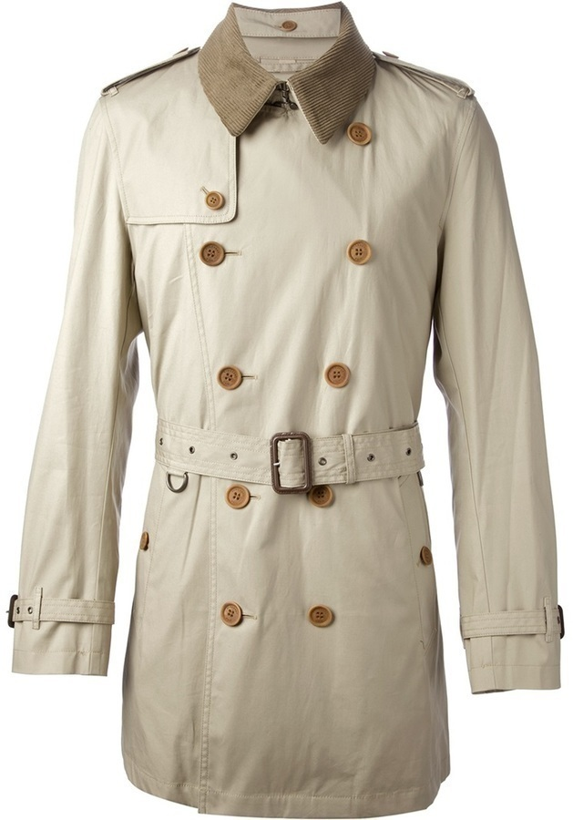 Burberry Brit Detachable Corduroy Collar Trench