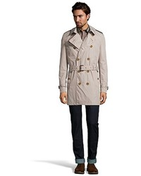 Burberry Brit Taupe Water Resistant Britton Double Breasted Trench