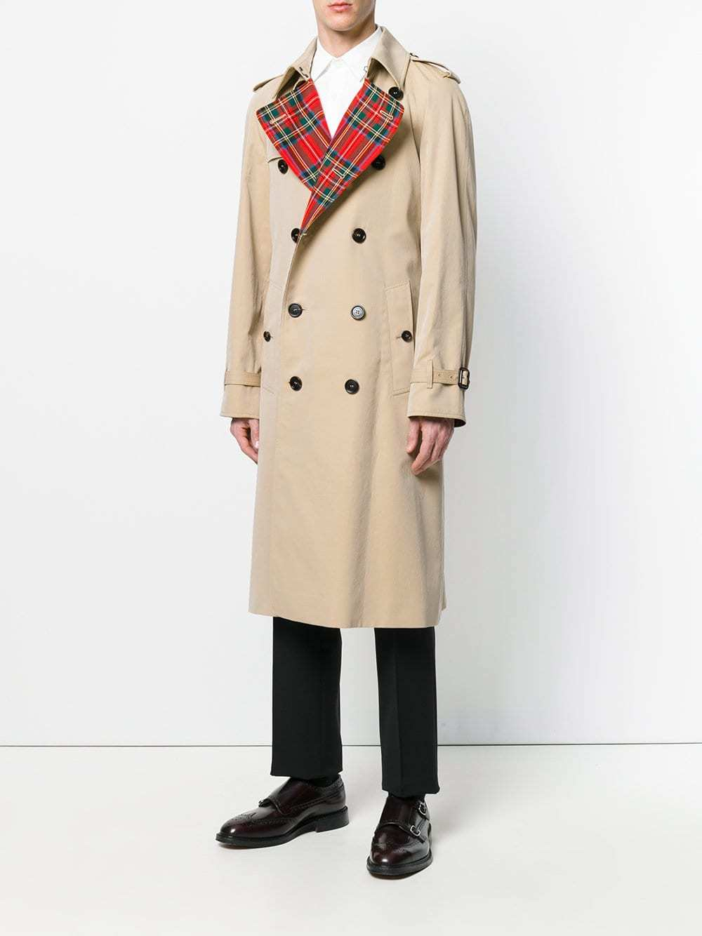 Burberry Tartan Lined Cotton Gabardine Trench Coat   Where to buy ... f8c910f18bc