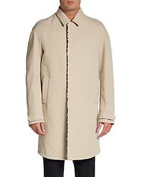 Burberry Calf Hair Trim Trench Coat