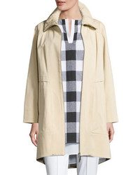 Collection ruched collar trench jacket medium 1195077