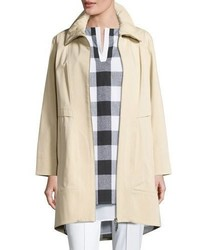 Collection ruched collar trench jacket plus size medium 1195061