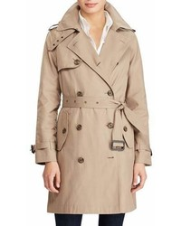 Lauren Ralph Lauren Cotton Blend A Line Trench Coat
