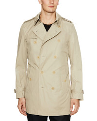 Burberry Cotton Trench Coat With Removable Warmer