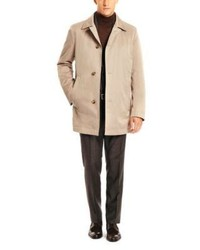 Hugo Boss Dais Cotton And Virgin Wool Blend Water Repellent Trench Coat