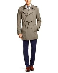 Hugo Boss Dan Cotton Water Repellent Trench 46r Beige