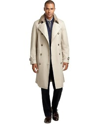 Brooks Brothers Double Breasted Khaki Trench
