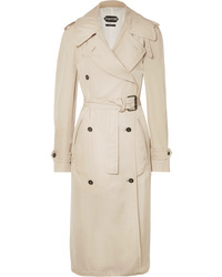 Tom Ford Double Breasted Med Twill Trench Coat