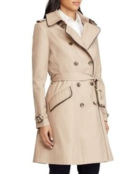 Lauren Ralph Lauren Double Breasted Short Trench Coat