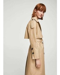 Mango Double Breasted Trench