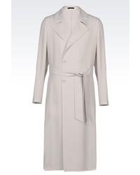 Emporio Armani Long Coat In Virgin Wool