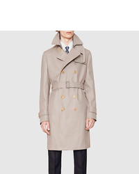 Gucci Cotton Poly Twill Trench Coat