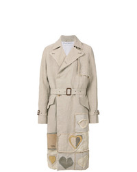 JW Anderson Heart Appliqud Trench Coat