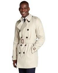 Burberry Khaki Three Quarter Double Breasted Trench