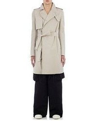 Rick Owens Lightweight Canvas Trench Coat Tan