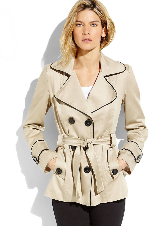 Made In Italy Double Breasted Short Trench Coat | Where to buy ...