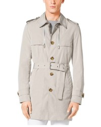Michael Kors Michl Kors Sueded Poplin Trench Coat
