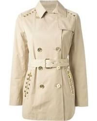 Michl michl kors studded short trench coat medium 78077
