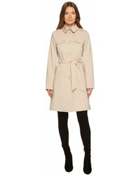 Kate Spade New York Rain Tie Waist Fit And Flare Trench Coat Coat