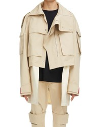 Givenchy Oversize Crop 2 In 1 Parka