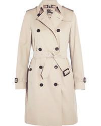 The kensington long cotton gabardine trench coat beige medium 161313