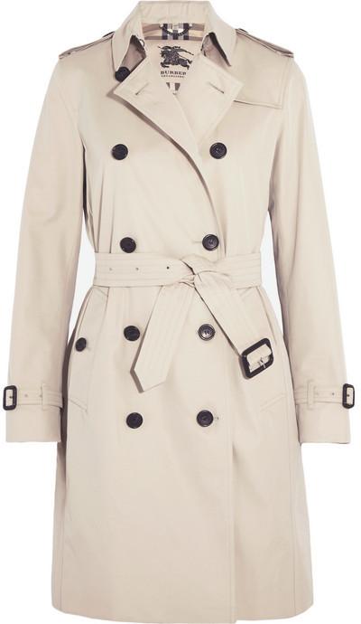 d82bc1be9 ... Burberry The Kensington Long Cotton Gabardine Trench Coat Beige ...