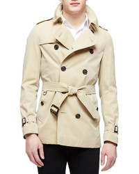 The sandringham short heritage trench coat honey medium 307353