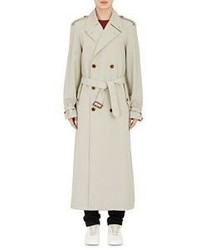 Maison Margiela Twill Double Breasted Trench Coat Nude