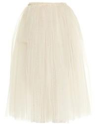 Golden Goose Deluxe Brand Violet Tulle Midi Skirt
