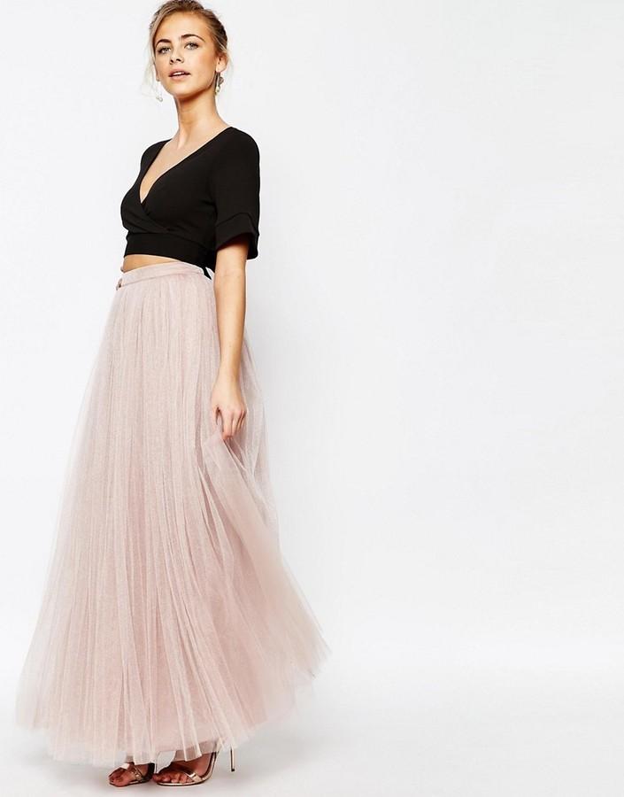 10f5e71594 Little Mistress Maxi Tulle Skirt, $62 | Asos | Lookastic.com
