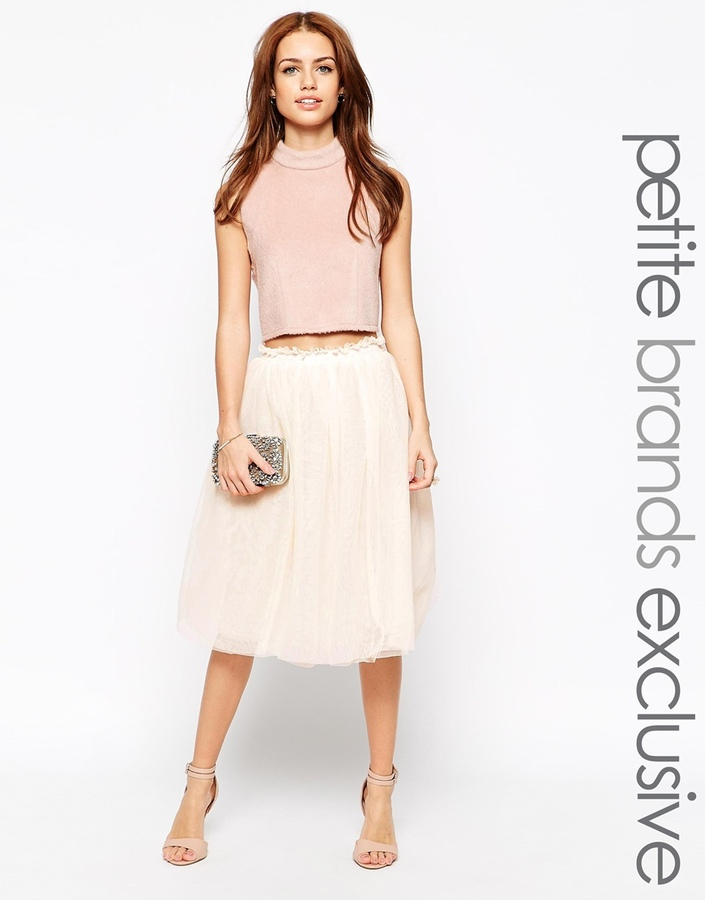 John Zack Petite Midi Tulle Skirt | Where to buy & how to wear