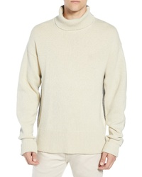 French Connection Colorblock Turtleneck Sweater