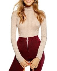 Topshop Funnel Neck Shirt