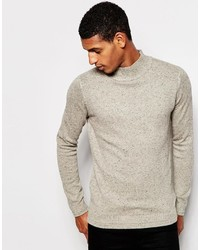 Selected Homme Turtleneck Sweater With Fleck