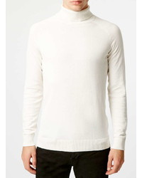 Selected Homme White Turtle Neck Sweater
