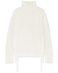 Helmut Lang Military Med Ribbed Cotton Turtleneck Sweater