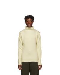 Barena Off White Cimador Mock Neck Sweater