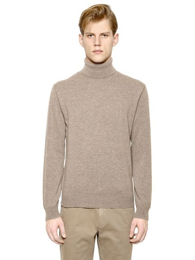 Corneliani Wool Cashmere Turtleneck Sweater | Where to buy & how ...