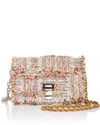 Beige Tweed Crossbody Bag
