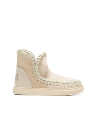 Mou Stitch Detail Ankle Boots
