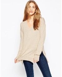 Asos Collection Sweater With V Neck In Cashmere Mix